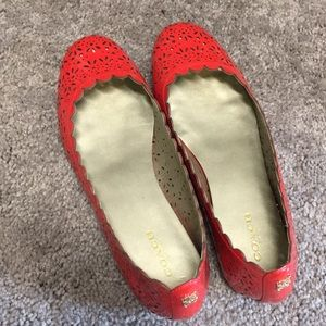 Coach Red Patent Flats